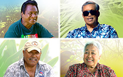 "Norbert Kaiama Palea, Elroy Makia Malo, Meli Watanuki and Clarence ""Boogie"" Kalihihiwa (clockwise from top left)"